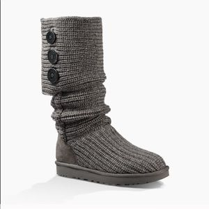 Authentic Ugg Classic Cardi Tall Knit Boots Sz 8